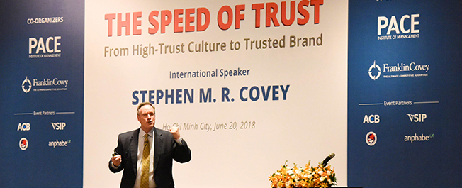 """THE SPEED OF TRUST"" - THE WORLD-CLASS LEADERSHIP DEVELOPMENT SOLUTION IN THE AGE OF TRUST CRISIS"